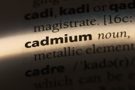 cadmium word in a dictionary. cadmium concept. Stock Photo