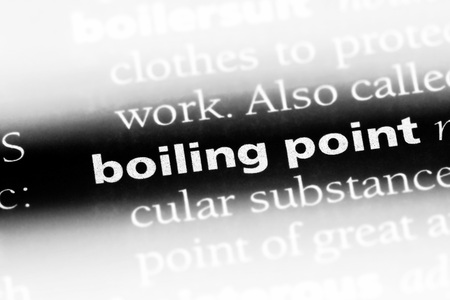 boiling point word in a dictionary. boiling point concept.