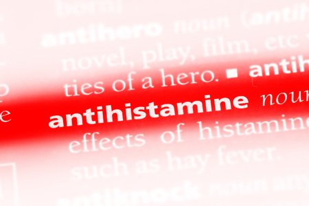 antihistamine word in a dictionary. antihistamine concept.