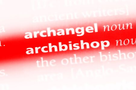 archbishop word in a dictionary. archbishop concept.