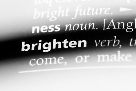 brighten word in a dictionary. brighten concept.
