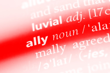 ally word in a dictionary. ally concept.