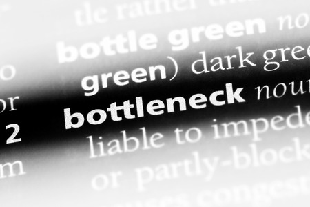 bottleneck word in a dictionary. bottleneck concept. Stock Photo