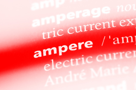 ampere word in a dictionary. ampere concept.