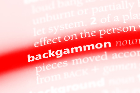backgammon word in a dictionary. backgammon concept.