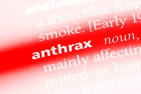 anthrax word in a dictionary. anthrax concept.
