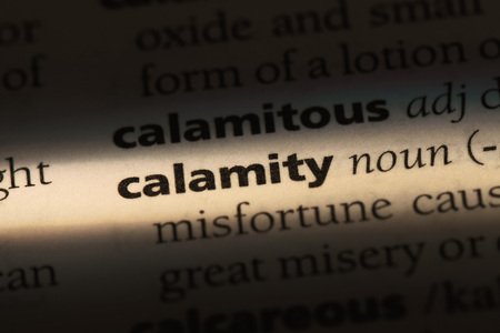 calamity word in a dictionary. calamity concept. Stockfoto - 99507223
