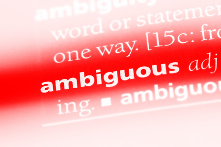 ambiguous word in a dictionary. ambiguous concept. 스톡 콘텐츠