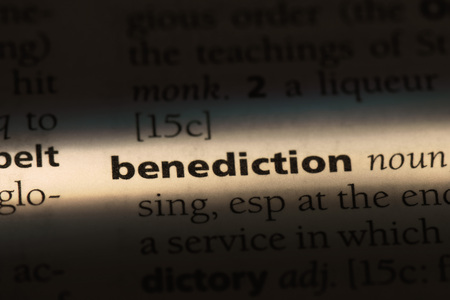 benediction word in a dictionary. benediction concept.