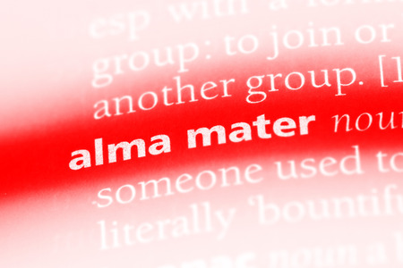 alma mater word in a dictionary. alma mater concept. Stock Photo - 99883722