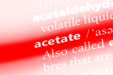 acetate word in a dictionary. acetate concept.