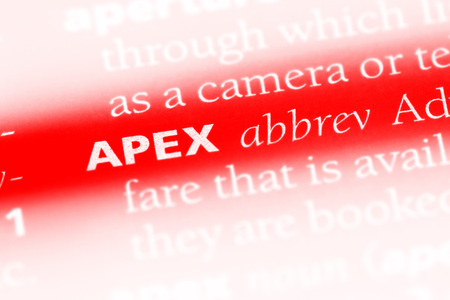 apex word in a dictionary. apex concept.