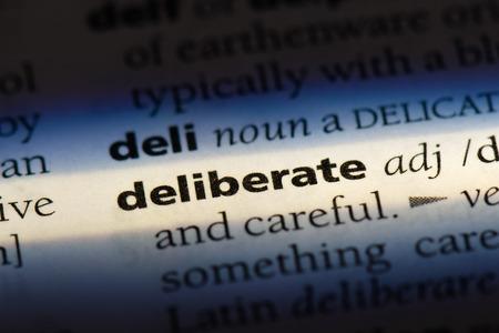 deliberate deliberate concept. Stock Photo