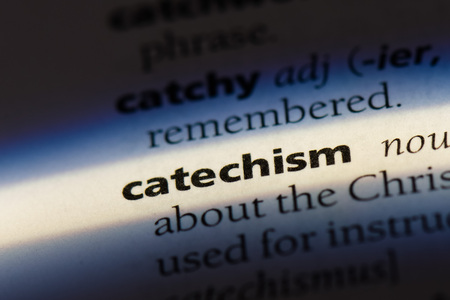 catechism word in a dictionary. catechism concept. Stock Photo