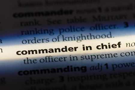 commander in chief word in a dictionary. commander in chief concept.
