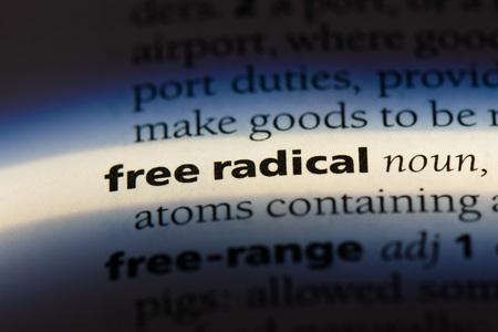 free radical free radical concept. Stock Photo