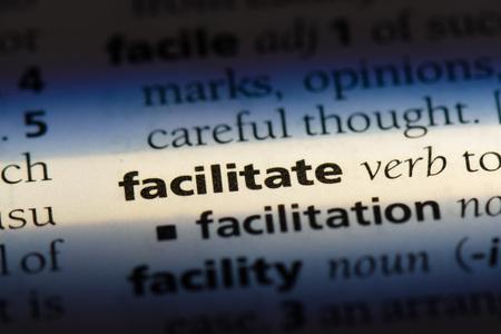 facilitate facilitate concept. Stok Fotoğraf