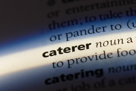 caterer word in a dictionary. caterer concept.