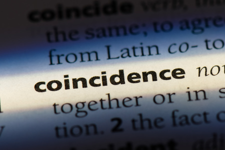 coincidence word in a dictionary. coincidence concept. Stok Fotoğraf