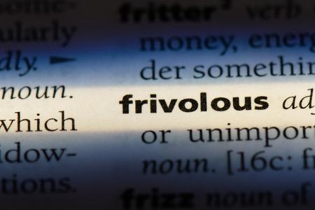 frivolous frivolous concept.