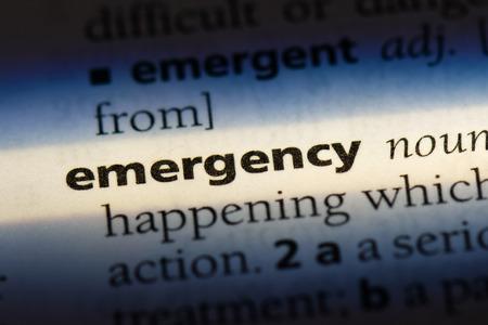 emergency emergency concept.