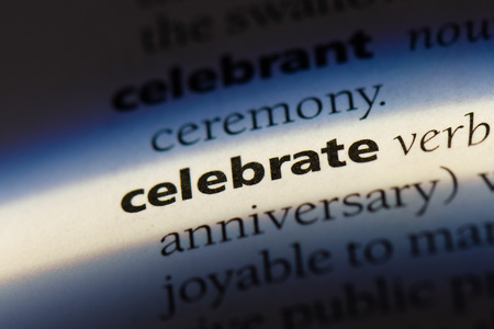 celebrate word in a dictionary. celebrate concept. Stock Photo
