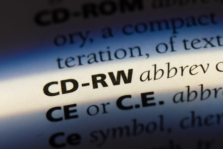 cd-rw word in a dictionary. cd-rw concept. Stock Photo