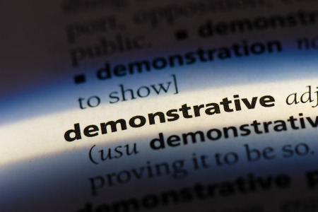 demonstrative dictionary concept.