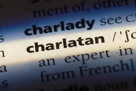 charlatan word in a dictionary. charlatan concept. Stock Photo