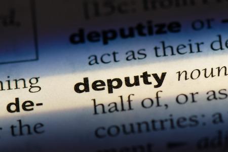 deputy deputy concept. Stock fotó