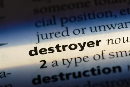 destroyer destroyer concept. Stock Photo