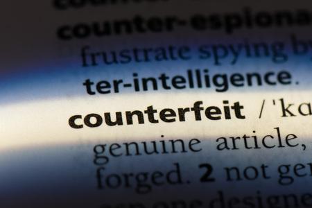 counterfeit dictionary concept. Фото со стока
