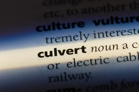culvert dictionary concept.