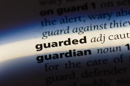 guarded dictionary concept. Banco de Imagens