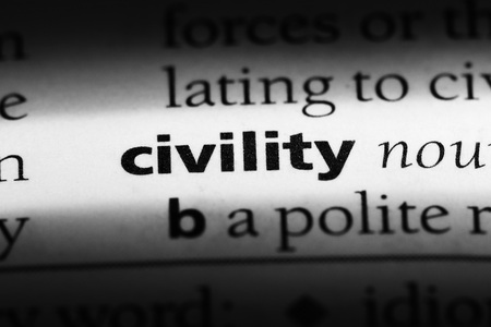 civility word in a dictionary. civility concept Banque d'images - 100423661