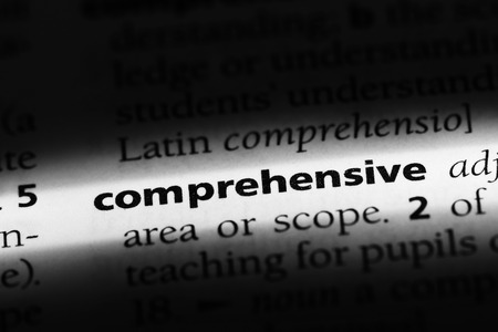 comprehensive word in a dictionary. comprehensive concept Stock fotó - 100356910