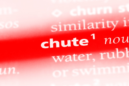 chute word in a dictionary. chute concept