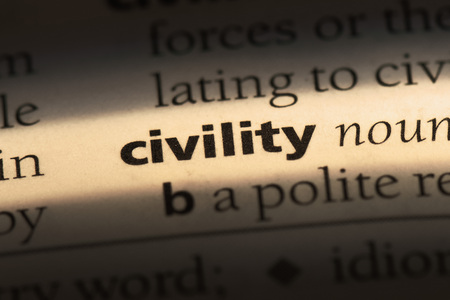 civility word in a dictionary. civility concept Banque d'images - 100423944
