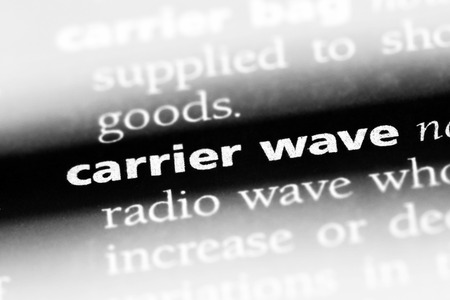 carrier wave word in a dictionary. carrier wave concept