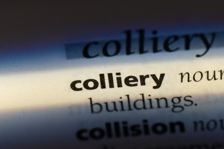 colliery word in a dictionary. colliery concept Standard-Bild - 100357804