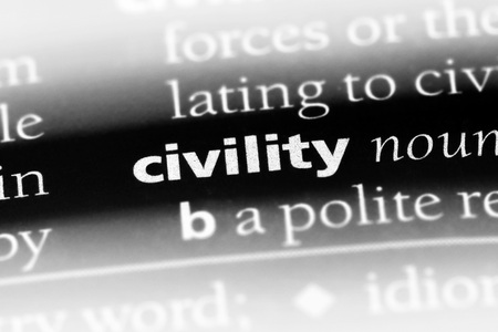 civility word in a dictionary. civility concept Banque d'images - 100355420