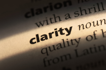 clarity word in a dictionary. clarity concept Stockfoto