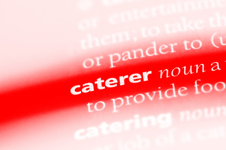 caterer word in a dictionary. caterer concept