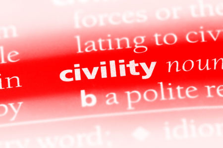 civility word in a dictionary. civility concept Banque d'images - 100424107