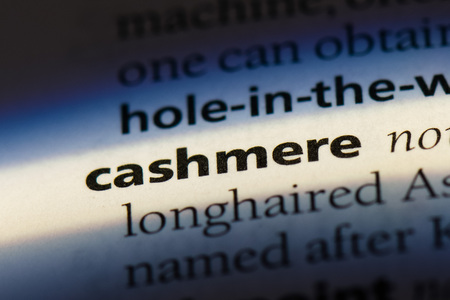cashmere word in a dictionary. cashmere concept Stock Photo
