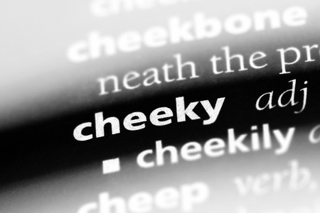 cheeky word in a dictionary. cheeky concept
