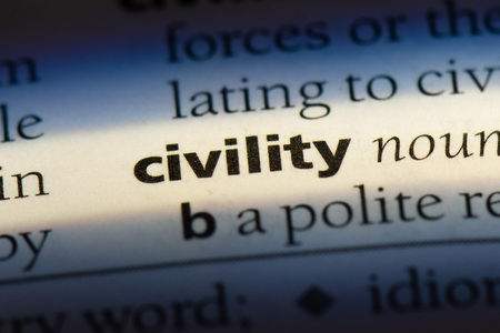 civility word in a dictionary. civility concept