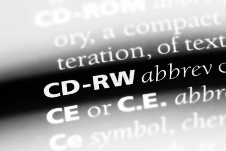 cd-rw word in a dictionary. cd-rw concept