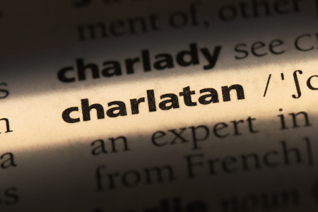 charlatan word in a dictionary. charlatan concept Stock Photo