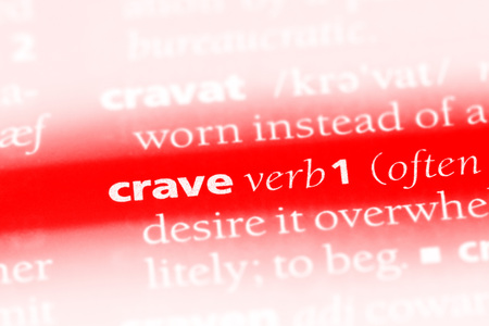 crave word in a dictionary. crave concept